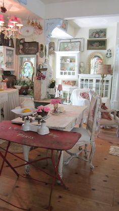 Vintage white scale shabby chic cottage by Vintagewhitecottage, $124.00