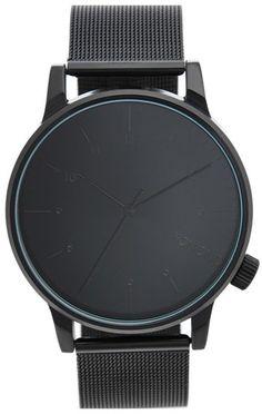 Komono 'Winston' Round Dial Strap Watch, 40mm