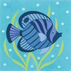 Medium Hawaii Painting, Dot Painting, Fabric Painting, Kite Designs, Paint Designs, Fish Crafts, Beach Crafts, Tiki Bar Signs, Nautical Art