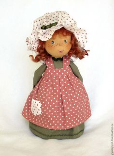 Коллекционные куклы ручной работы. Ярмарка Мастеров - ручная работа Маленькая смешная  Sally - веснушки, рыжие косички, зеленый. Handmade.