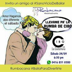 Este sábado 24/09 la Rumba es en @cibo_club desde las 6:30pm