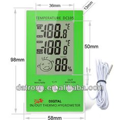 Digital outdoor clock thermometer KT908 | Gadgets | Pinterest ...