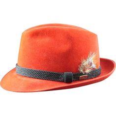 Fabulous Vintage Men's Red Fur Felt Dobbs Fedora Size 7 1/8 from Lenow Legacies at RubyLane.com