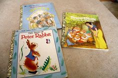 Set of three Little Golden Books.  The Tale of Peter Rabbit.  Snow White, and Little Golden Book of Hymns.. by CreekLifeTreasures