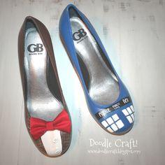 Doodle Craft...: Doctor Who Painted TARDIS Heels!