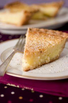 Buttermilk Pie with Nutmeg and Vanilla