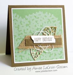 Julie's Stamping Spot -- Stampin' Up! Project Ideas by Julie Davison: More Thoughtful Branches Project Ideas Birthday Cards For Women, Stampin Up Catalog, Shaped Cards, Fall Cards, Masculine Cards, Card Tags, Flower Cards, Creative Cards, Greeting Cards Handmade