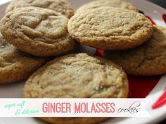 Soft Ginger Molasses Cookies: get the recipe! Ginger Molasses Cookies, Love Your Home, Posts, Desserts, Blog, Recipes, Tailgate Desserts, Messages, Deserts