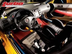 1997 Honda Civic EK Hatchback Interior - no carpet with floor mats