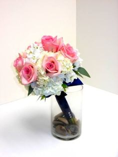 Pink Roses, Hydrangeas and Stock, just lovely.
