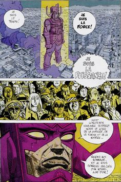 """Moebius (Jean Giraud) - From Silver Surfer - Marvel Group In KABOOM #5 - May 2014 French comics magazine """"I am the Time - I am the Force - I am the Power"""""""