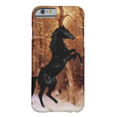 A friesian horse in winter snow barely there iPhone 6 case