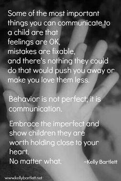 Unconditional acceptance: teach them through connection, not rejection #parentingadvicegirls