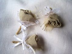This beautiful spring shabby chic country boutonnieres are made from burlap rose with sceleton leave on the back ,wired pearls ,pearls on the top