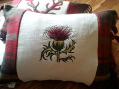 The Highland Thistle Cushion by TheWoollyCushionCo on Etsy