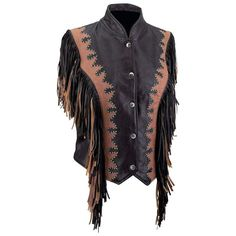 Diamond Plate™ Ladies' Solid Genuine Leather Vest #DiamondPlate