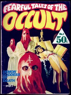 Occultsploitation Sensation. † #occult #okkvlt #pulp #book #cover #bookcover #retro #vintage #hyperbole #rad