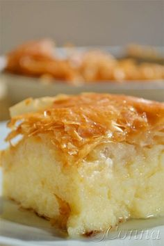 Find our delicious recipe for Galaktomboureko and give it a try! Greek Sweets, Greek Desserts, Kinds Of Desserts, Greek Recipes, Grilled Peaches, Different Recipes, Sweet Tooth, Sweet Treats, Dessert Recipes