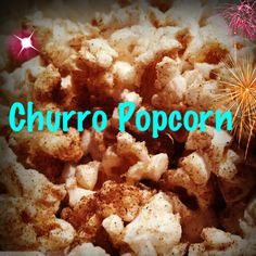 1 bag Orville redenbacher tender white popcorn + 1/4 cup cinnamon sugar...layer while popcorn is still hot, shake, new layer of white popcorn comes to the top, repeat.