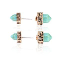 Ginasy Women's Ear Accessory Turquoise Bullet Carve Alloy... https://www.amazon.com/dp/B01CZS4OMY/ref=cm_sw_r_pi_dp_x_2pLnyb0SZEZ02