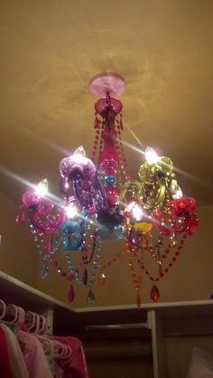 wont my Princess Hailey loves this when she gets home from school? Who says closet lights have to be boring!!! princess-rooms