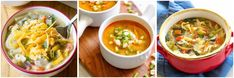 Keep warm with these healthy soup recipes. From chicken soups to vegetable soups and lentil soups, there are plenty of nourishing soups to choose from here. Cooks Slow Cooker, Healthy Slow Cooker, Slow Cooker Soup, Best Healthy Soup Recipe, Healthy Soups, Chicken Zoodle Soup, Chicken Soups, Southwest Chicken Soup, Turmeric Soup