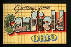 Large Letter linen postcard Canfield, Ohio OH Curt Teich Vintage   eBay