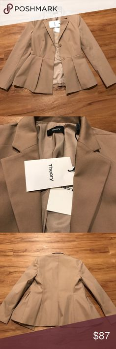 Beautiful Theory Jacket Gorgeous Theory suit jacket size 4 NWT! Retail price $415. Get this jacket for over 75% off! Theory Jackets & Coats Blazers