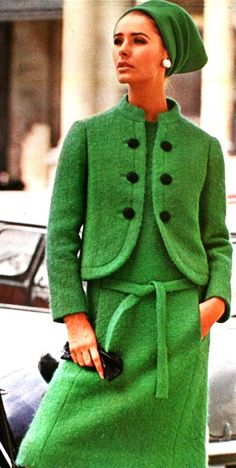 wearing Lanvin, 1965