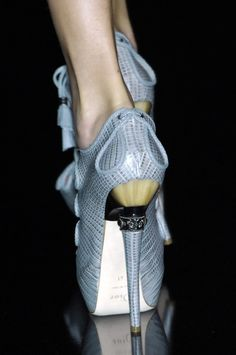 Dior Runway Pumps High Fashion Heel Detail #Shoes #Heels