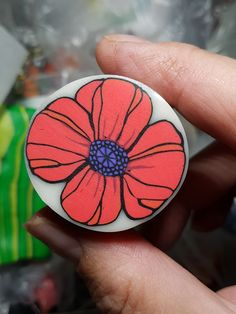 Polymer clay poppy cane Polymer Clay Canes, Clay Ideas, Clay Creations, Poppy, Tutorials, How To Make, Fimo, Poppies, Teaching