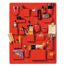 Uten.Silo in red for Vitra / designed by Dorothee Becker