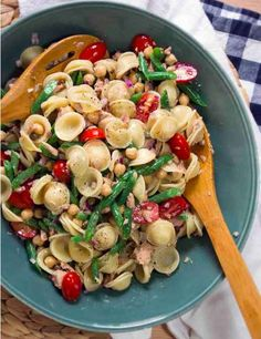 Chickpea, Tuna and Caper Orecchiette Pasta Salad