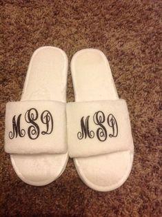 9b358a28e01 Monogram Slippers personalized slippers ladies by KGKornerKraft