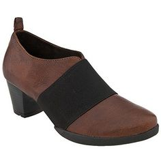 Wolky - Piccato Italian Softy Brown Leather, $169. Merge style and comfort with the Wolky Piccato. This women's bootie features a soft Italian leather upper with a self-adjusting elasticized strap at the instep. A leather lining and Wolky's signature removable cork, latex and memory foam insole lend cushioned comfort to this Wolky bootie, which is finished with a medium heel for lift and a sturdy polyurethane-rubber outsole for durable wear. Italian Leather, Memory Foam, Cork, Heeled Mules, Latex, Brown Leather, Dress Shoes, Booty, Medium