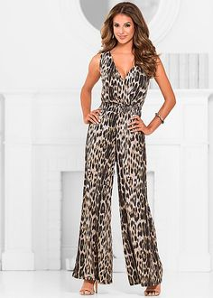 Leopard jumpsuit from VENUS. Sizes XS-XL!