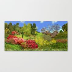 Spring Painting Oil Stretched Canvas by Elena Indolfi - $85.00