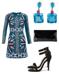 """""""Beautiful Dress"""" by weavingmaidenbdayseptember21st ❤ liked on Polyvore featuring Peter Pilotto, Anne Michelle and L.K.Bennett"""