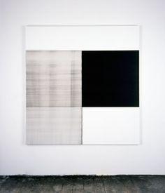 Callum Innes, 2001 Exposed Painting Vine Black, Violet Oil on canvas | 174.5 x 167.5 cm