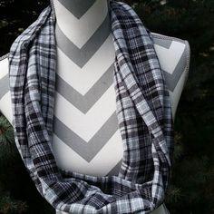 http://ift.tt/1IvgFED #handmade #giftsforher #giftideas #gifts #etsy #loveflannel #plaidscarf #plaid #grayscarf