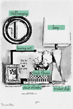 How to style a nightstand - elements of a well-styled nightstand - waterlogue nightstand styling photo