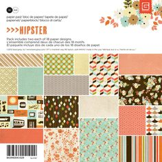 BasicGrey - Hipster Collection - 6 x 6 Paper Pad at Scrapbook.com $5.99