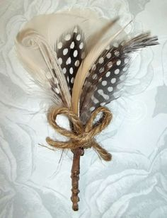 Twigs and Twine Boutonierre mens wedding by kathyjohnson3 on Etsy,
