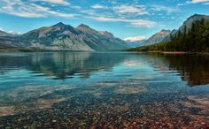 The Most Beautiful Places in All 50 States -- As the largest lake in Montana's photogenic Glacier National Park, Lake McDonald spans 10 miles and . - Jeff R Clow + Getty Beautiful Places To Visit, Cool Places To Visit, Beautiful World, Wonderful Places, Beautiful Things, Affordable Family Vacations, Montana Lakes, Seen, Travel Usa