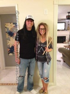Cool Homemade Couples Wayne�s World Costume...