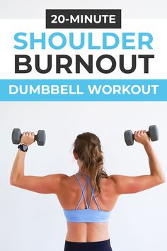 Upper Body Hiit Workouts, Upper Body Workout For Women, Hiit Workout Videos, Back Workout Women, At Home Workouts, Workout Plans, Best Shoulder Workout, Best Chest Workout, Shoulder Exercises