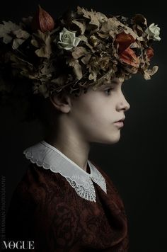 Autumn by Rudi Huisman. Photographer Rudi Huisman is creating portraits inspired and based on the golden age master painters.