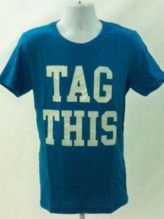 Aeropostale-Mens-Short-Sleeve-Tag-This-Graphic-T-shirt-Blue-size-M-Aero-Tee-New