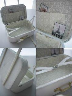 Sahbby chic miniature suitcase