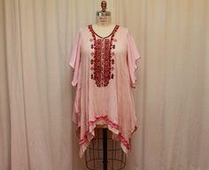 Boho plus size tunic dress Bohemian clothes Gypsy by MilaLem